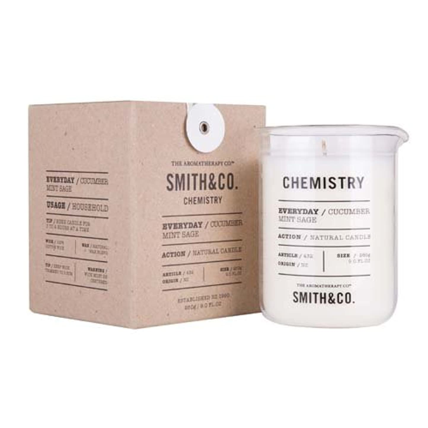 壊すグラマー先入観Smith&Co. Chemistry Candle ケミストリーキャンドル Cucumber Mint Sage