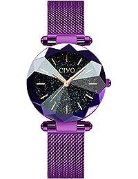 13ca0f07d5 [チーヴォ]CIVO 腕時計レディース 女性時計薄型 ステンレスメッシュ防水ウオッチ シンプル ...