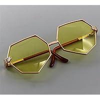 HuaQingPiJu-JP かわいいアメリカ人の菱形の菱形のメガネ(黄色)