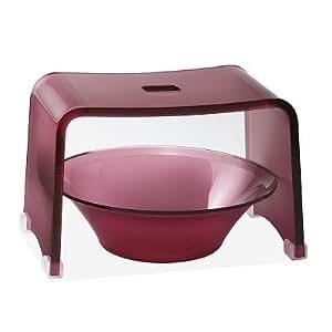 みやび バスチェア20型セット 風呂イス★洗面器 スモークピンク