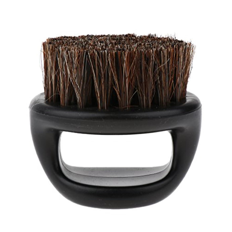 少数マインドフル落とし穴ビアードブラシ ハンドル付き メンズ ポータブル ひげ剃り用ブラシ