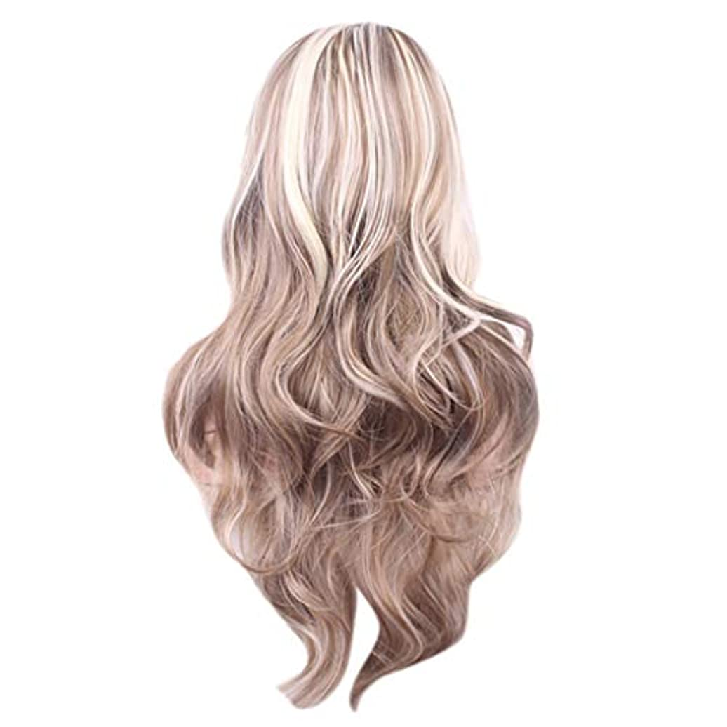 瞑想朝ごはんレンド女性のセクシーな長い巻き毛のかつら70センチウィッグ