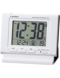 芳国産業 目覚まし時計 電波 デジタル プラザネオ 日付表示 ホワイト YT5233