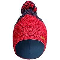 屋外冬スキーニットキャップKeepソフト雪暖かいニットウールキャップ帽子レッド