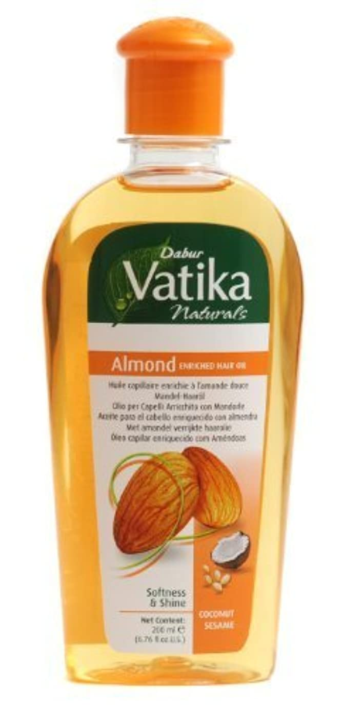 ベリーがっかりした有望Dabur Vatika Naturals Almond Enriched Hair Oil Softness and Shine coconut sesame 200 ml [並行輸入品]