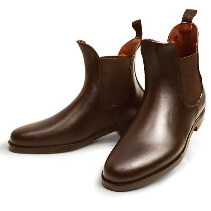 スカウト絡み合い漏れ防水 レインブーツ ブーツ レインシューズ サイドゴア 雨靴 男性用 靴 L D/Brown ダーク ブラウン