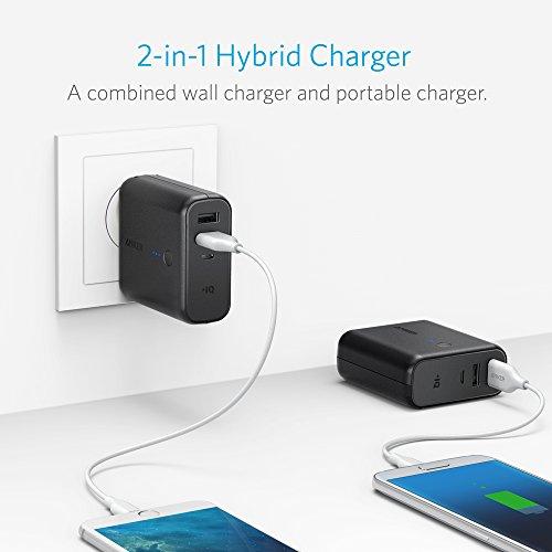 Anker PowerCore Fusion 5000 (5000mAh モバイルバッテリー搭載 USB急速充電器) 【PowerIQ搭載 / 折畳式プラグ搭載】 iPhone、iPad、Android各種対応