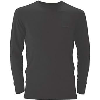 (モンベル)mont-bell スーパーメリノウール L.W.ラウンドネックシャツ Men's 1107263 BK ブラック S