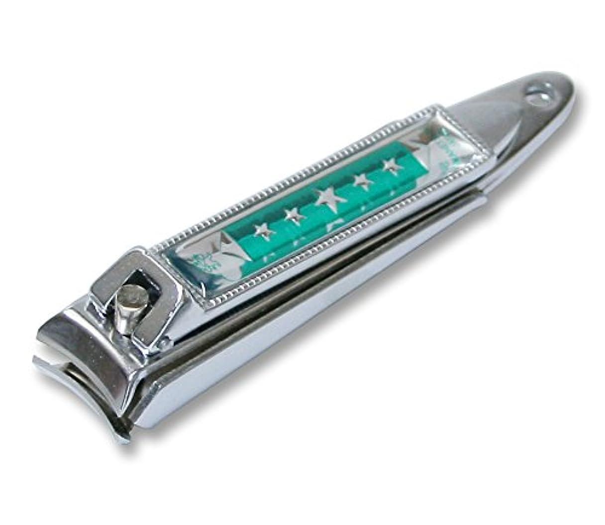 うそつきスマイル合図KC-051GR 関の刃物 関兼常 チラーヌ爪切 中 緑