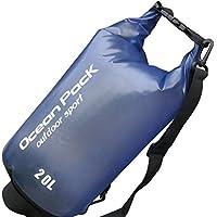 Fineser PVC防水ドライバッグ-20l forカヤック/ボート/カヌー/釣り/ラフティング/水泳/キャンプ/スノーボード 20L ブルー