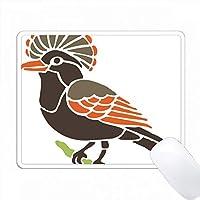 茶色とオレンジの異色の鳥が枝にある PC Mouse Pad パソコン マウスパッド