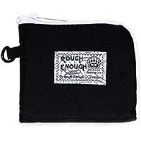 ROUGH ENOUGH スポーティな3機能リップストップ素材スモールコインポーチ紙ノートパーティーポケット (Black)