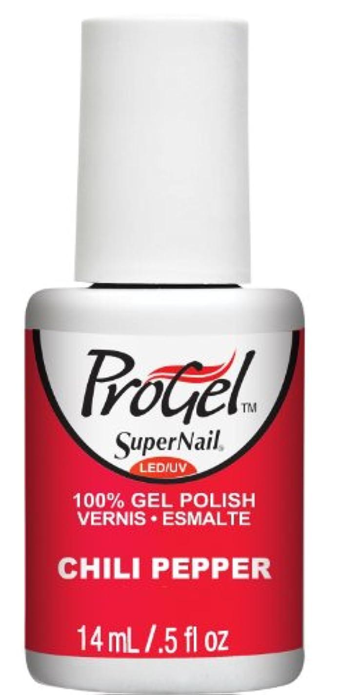 ビジタースライム終わったSuperNail ProGel Gel Polish - Chili Pepper - 0.5oz / 14ml