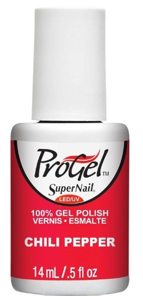 髄きらめき司令官SuperNail ProGel Gel Polish - Chili Pepper - 0.5oz / 14ml