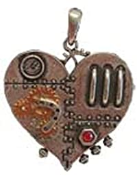 Steampunk Clockworkハートネックレス