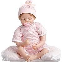 SanyDoll Rebornベビー人形ソフトSiliconeビニール22インチ55 cm Lovely Lifelike赤ちゃん男の子女の子おもちゃピンクかわいい人形