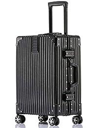 ビルガセ(Vilgazz) スーツケース アルミフレーム 軽量 キャリーケース 耐衝撃 キャリーケース 機内持込 キャリーバッグ 人気 大型 TSAロック付 静音 旅行出張 ヘアライン仕上げ 1年保証