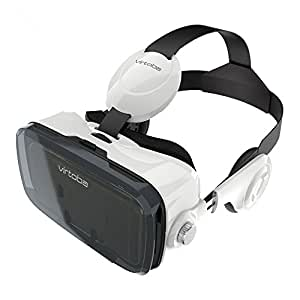 Virtoba X5 VR BOX 3Dメガネ 3Dグラス VRゴーグル スマホゴーグル 焦点距離調節(ヘッドセット実装)