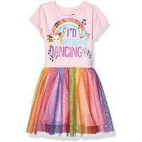 JoJo Siwa Girls J6SS268-9S68 Rather Be Dancing Tutu Dress with Tulle Skirt Short Sleeve Casual Dress - Multi
