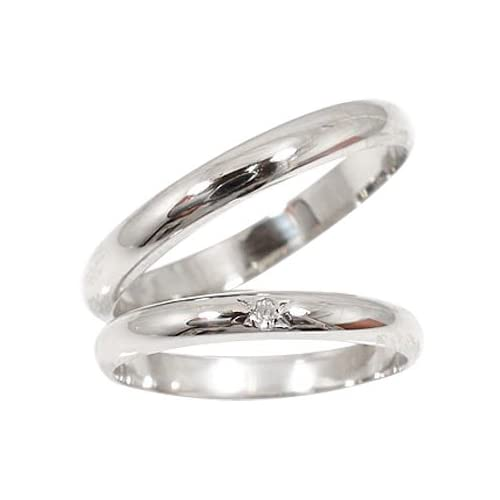 [アトラス] Atrus 結婚 プラチナ ペアリング 結婚指輪 リング 指輪 ダイヤモンドリング 一粒 ダイヤ 0.01ct メンズ レディース ペア セット