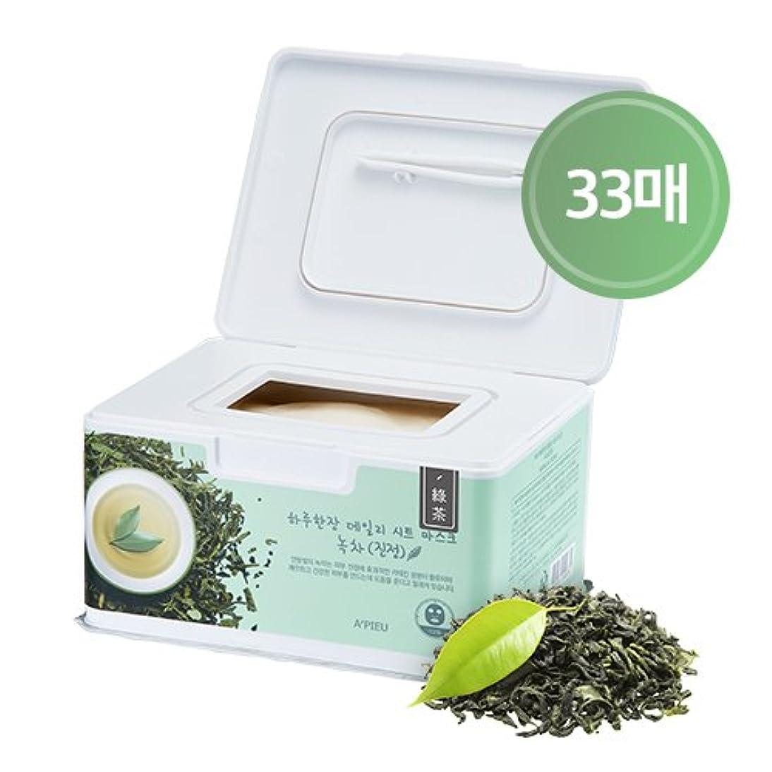アルプス速記前提条件APIEU DAILY Sheet Mask Green Tea (Soothing) / [オピュ/アピュ] デイリーシートマスク_緑茶 (スージング) [並行輸入品]