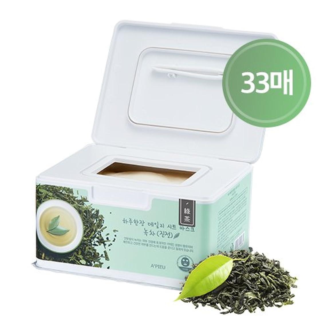 APIEU DAILY Sheet Mask _ Green Tea (Soothing) / [オピュ/アピュ] デイリーシートマスク_緑茶 (スージング) [並行輸入品]