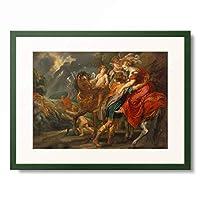 ヤン・ファン・デン・ヘッケ Jan van den Hoecke 「Dido and Aeneas.」 額装アート作品