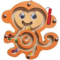 Qiyun迷路おもちゃ赤ちゃん小さなペンLabyrinthパズルToy Cartoon Animal Magnetic Mazeおもちゃ知的開発ゲーム教育ブロック style:monkey CACY-1008-ZZ6