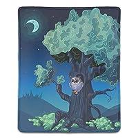 マウスパッド 防水 耐久性が良い 滑り止めゴム底 滑りやすい表面 マウスの精密度を上がる 夜の森のデザイン