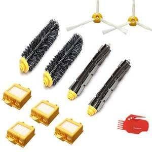Techpro® ルンバ700 760 770 780 790 irobot roomba シリーズ ブラシ11点セット(メインブラシ、フレキシブルブラシ、エッジブラシ、クリーニングツール, フィルター)