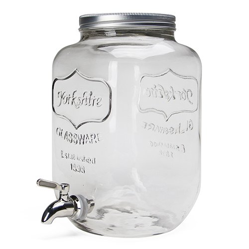 YORKSHIRE MASON JAR DRINK DISPENSER [ クリア / 8L ]