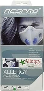レスプロ RESPRO アレルギー対策モデル 超軽量ポリエステル素材 エアロ/アレルギーマスク ホワイト L