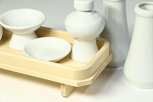 国産 神具セット 土器セット ■ 高杯仕様 ■木曽ひのき製 長膳付 小・中型 神棚に最適