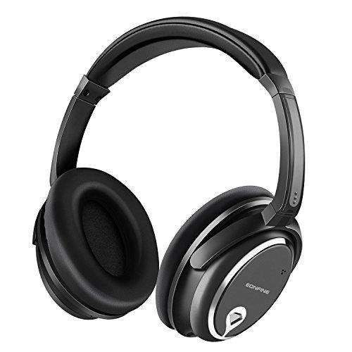 Eonfine-正規品 密閉型 アクティブノイズキャンセリングヘッドホン ステレオヘッドホン 有線 ゲーム/音楽用ヘッドセット 騒音隔離 マイク付け/通話可能 線抜け可 高音質 ブラック