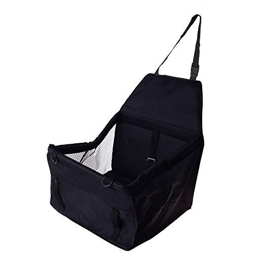 JingXiGuoJi ペット用カーシート 車用ペットシート 犬カーマット 猫カーマット 車用ペットキャリーバッグ 折畳み 防水 摩擦に強いペットカーシート旅行や野外で遊ぶに最適 (黒色)