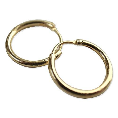 メンズ フープピアス 14mm 2個セット / リングピアス (Gold (ゴールド)) [並行輸入...