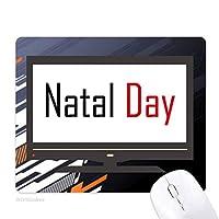 出生の日カナダ祝福祭休日祭りを祝う祝賀の言葉 ノンスリップラバーマウスパッドはコンピュータゲームのオフィス