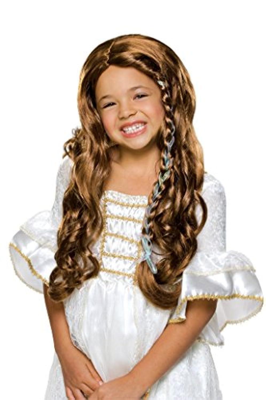 Rubies Glamorous Brunette Princess Child Wig [並行輸入品]