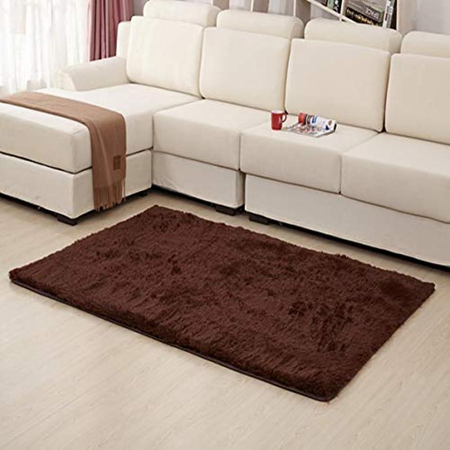 不規則な勃起回転させる超柔らかい厚い屋内モーデンエリア敷物パッド寝室のリビングルームのリビングルームの敷物毛布家の装飾のためのフットクロス-コーヒー40 * 60 cm
