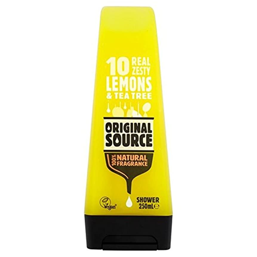 人類懺悔始める元のソースのレモンシャワージェル250ミリリットル x4 - Original Source Lemon Shower Gel 250ml (Pack of 4) [並行輸入品]