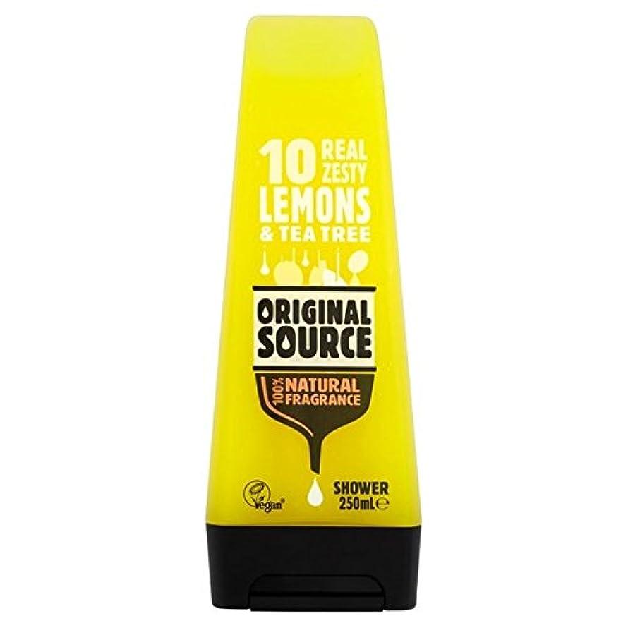 空気ガウンベンチャー元のソースのレモンシャワージェル250ミリリットル x4 - Original Source Lemon Shower Gel 250ml (Pack of 4) [並行輸入品]