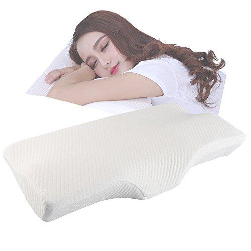 ACOGEDOR 低反発枕 首・頭・肩をやさしく支える健康まくら 3D体感ピロー いびき防止 頸椎サポート 肩こり対策 頭痛改善 安眠 無臭 洗えるマクラ 32×60cm