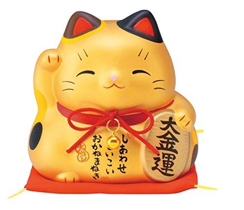 彩耀大福招き猫(大金運・大)(貯金箱) AM-Y7421