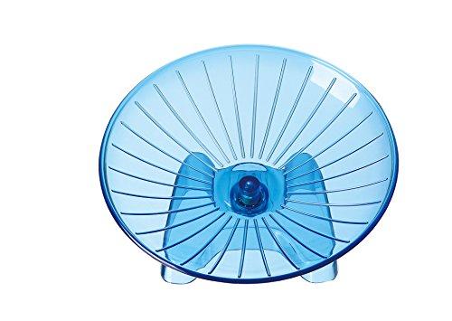 SatisPet アルティメット ハムスター フライングソーサー 回し車(ブルー)丈夫 ABS プラスティック エクササイズ ホイール 回転車 チンチラ リス ネズミ(大型)