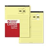 CONTACT Keeperビジネスカード&メモホルダーリフィル、Large 1カード(800211)