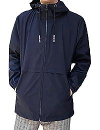 chenshiba-JP メンズロングスリーブ軽量アスレチックアウトドアウインドブレーカージャケット