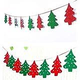 RAIN QUEEN クリスマスガーランドMerry Christmas お誕生日 飾り付け バナー 誕生日祝い クリスマスツリー パーティー デコレーション 装飾 フラッグガー 結婚式 壁飾り 人気 クリスマス クリスマス?ツリー パターン DIY