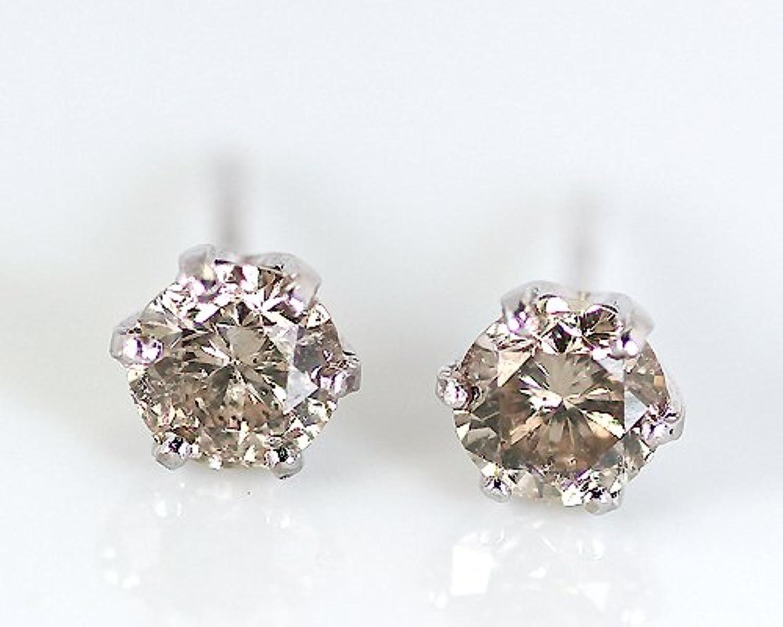 [KASHIMA]KASHIMA Pt 0.7ct ブラウンダイヤモンドピアス/イヤリング ピアス