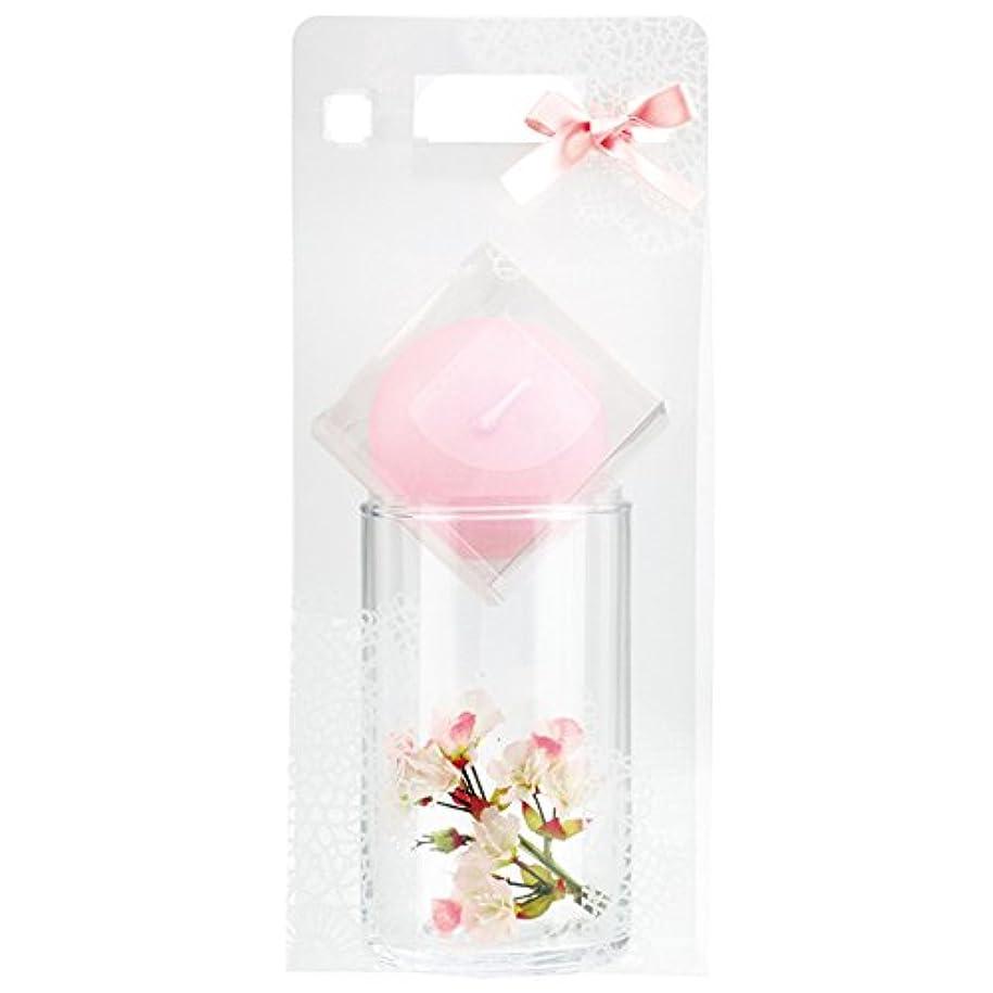 ラベル希望に満ちたオーバーフロー桜セット ピンク