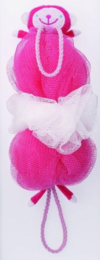うるさいバズ形状マーナ ボディースポンジ 「背中も洗えるシャボンボール」 サル B876P